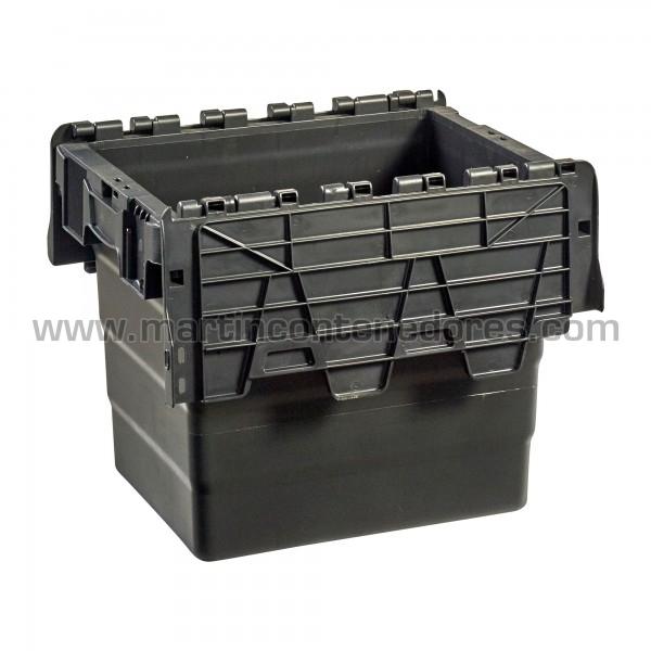 Caja plastica con asa cerrada nueva color negro