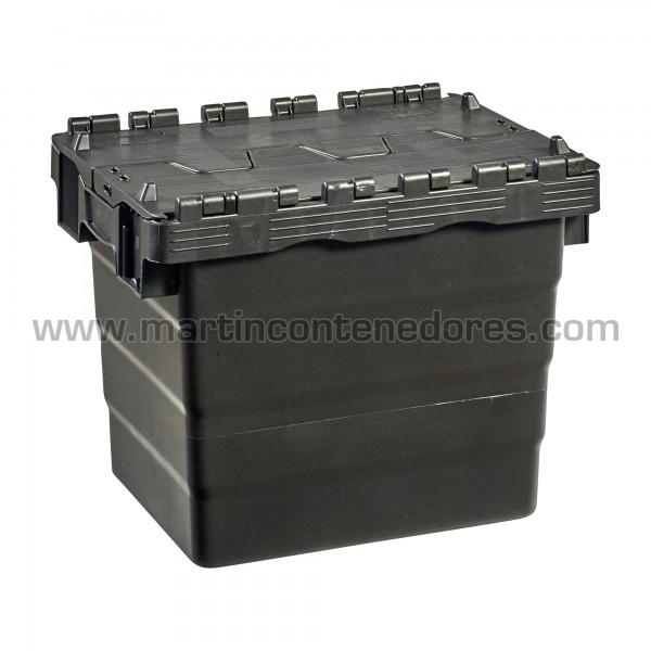 Caja plastica con tapa nueva color negro