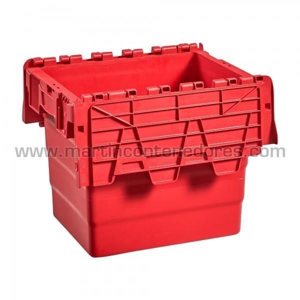 Caja plastica con tapa y porta etiquetas nueva