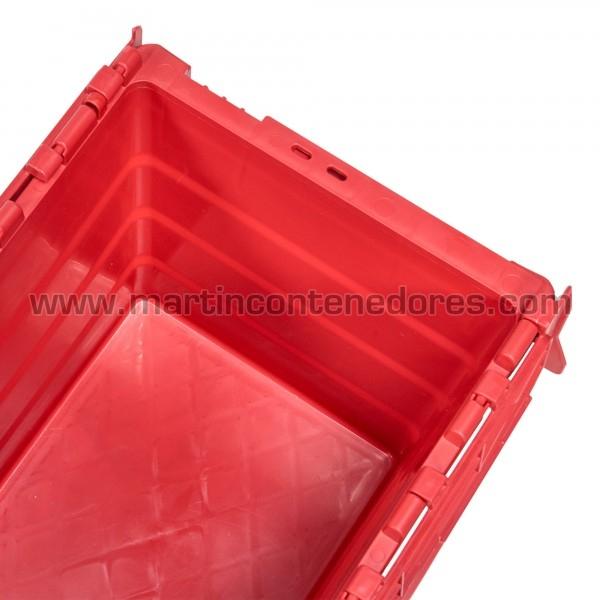 Caja plastica rojo con asa cerrada nueva