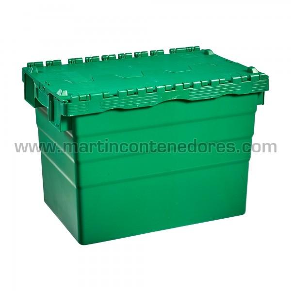 Caja con 4 portaetiquetas y asas integradas ergonómicas