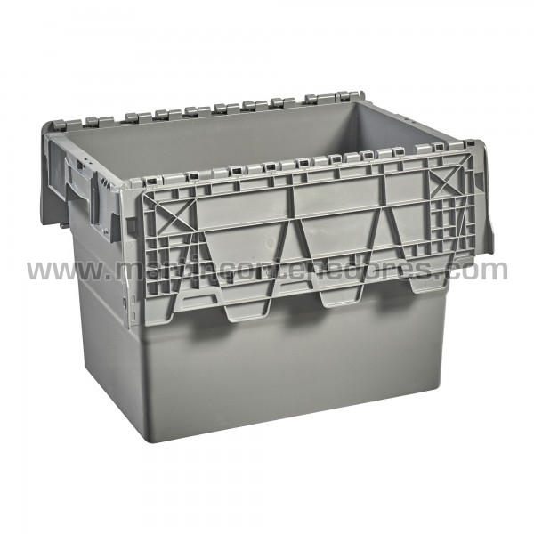 Caja con 4 portaetiquetas y asas integradas ergonómicas nueva