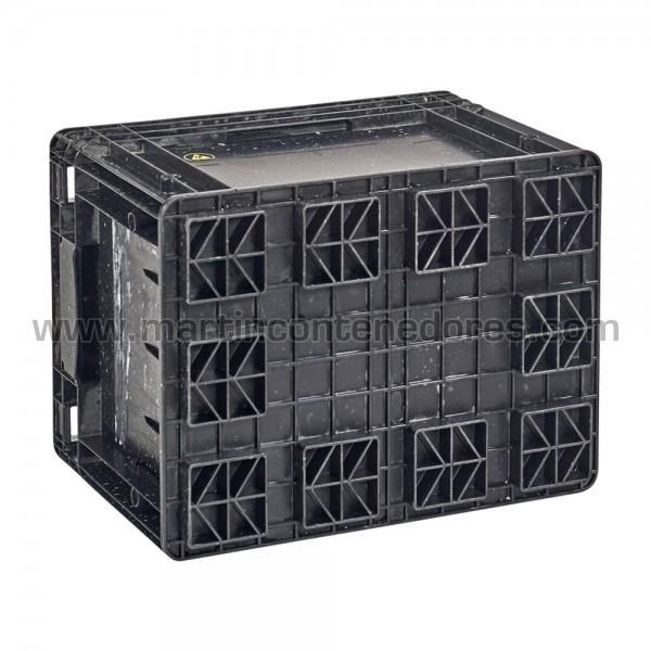 Caja plastica con porta - etiquetas