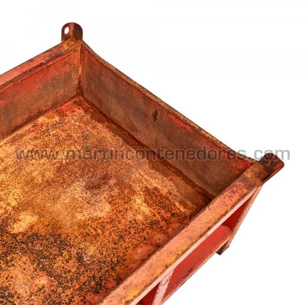 Conteneur métallique poids à vide 52 kg