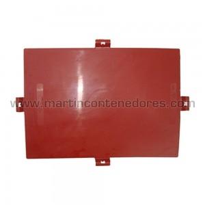 Tapa de plástico para caja Odette-Galia fabricado plastico color rojo