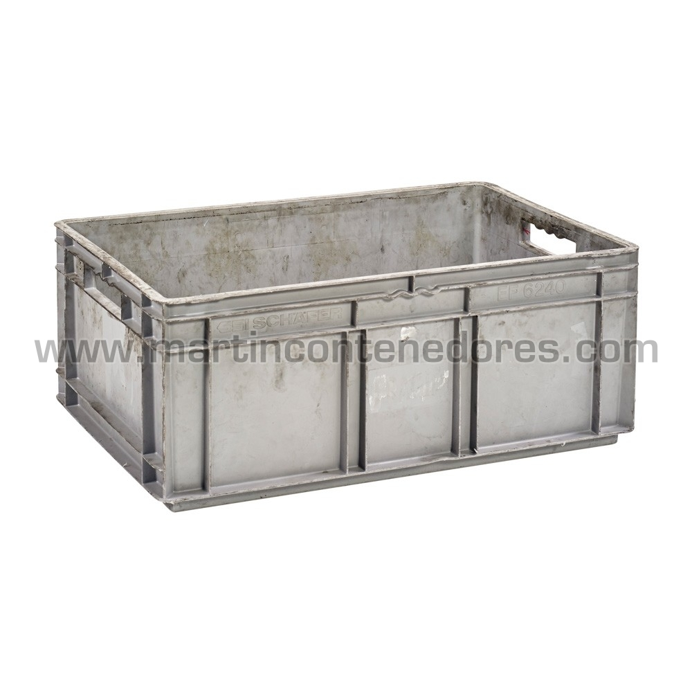 Caja plástica base y paredes cerradas