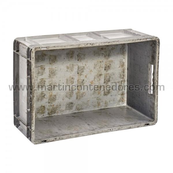 Caja plástica con capacidad de carga 25 Kg fabricado PP