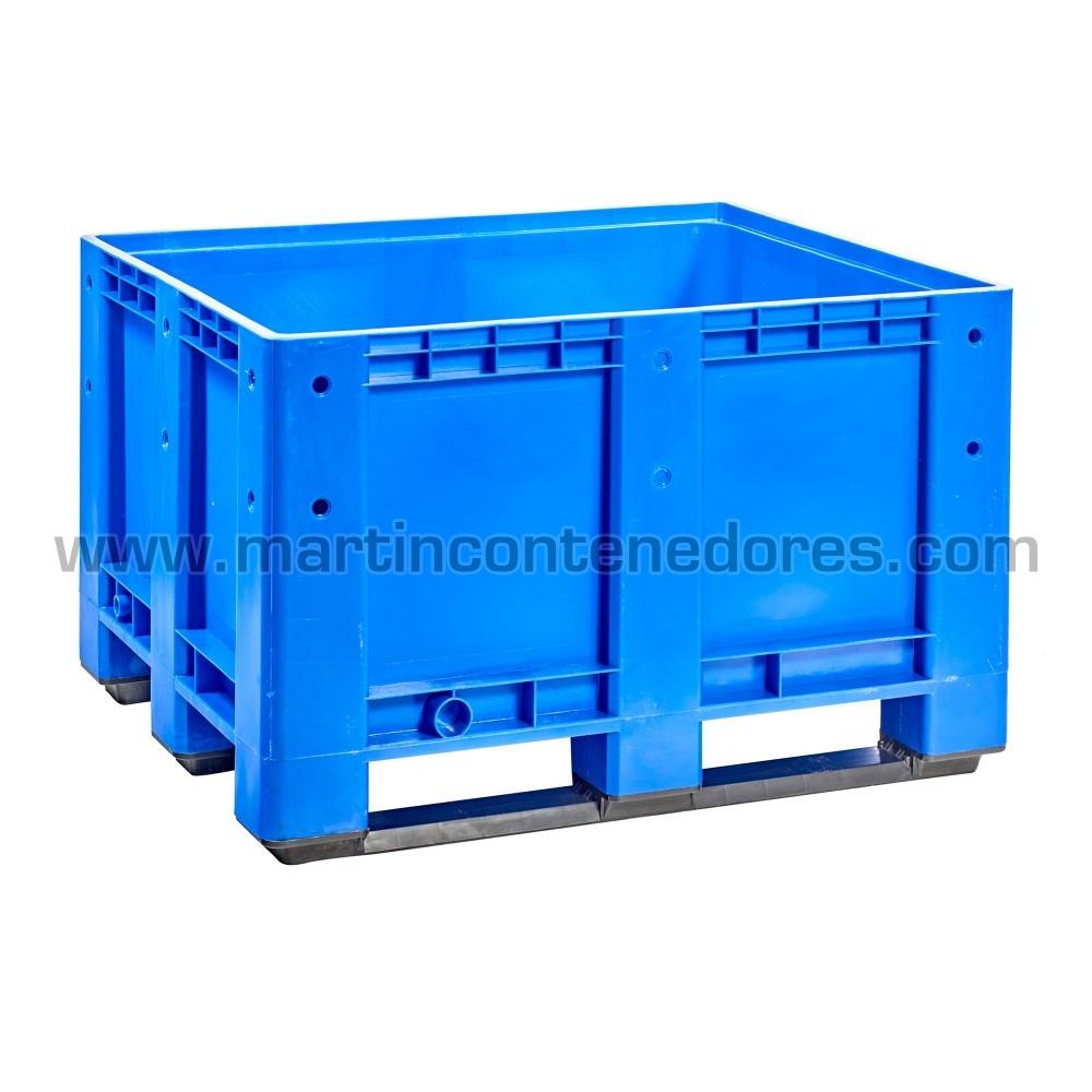 Caisse palette plastique 1200 mm bleu