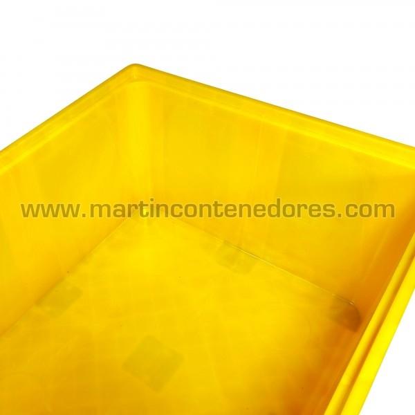 Contentor plástico empilhável amarelo