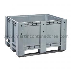 Contenedor plástico con 9 pies y 3 patines capacidade de carga 600Kg