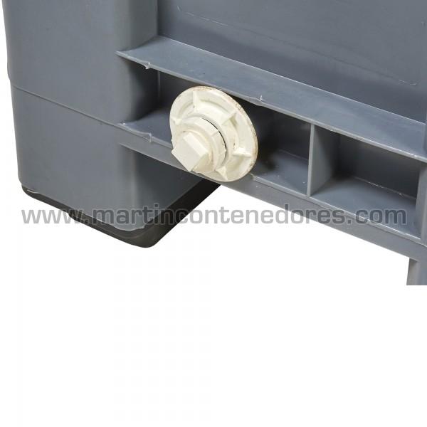 Contenedor plástico apilable color gris