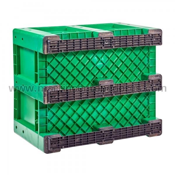 Caisse plastique avec 9 traîneaux