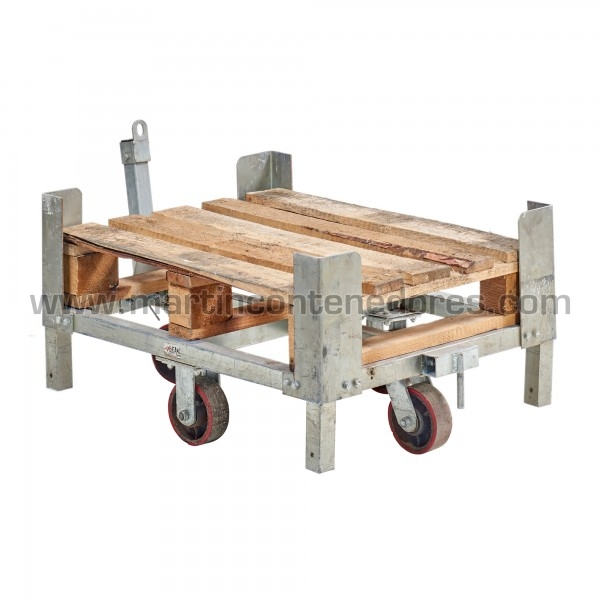 Carro metalico en madeira usado