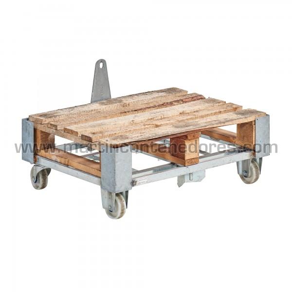 Carro metálico 810x600x160 mm usado en madeira