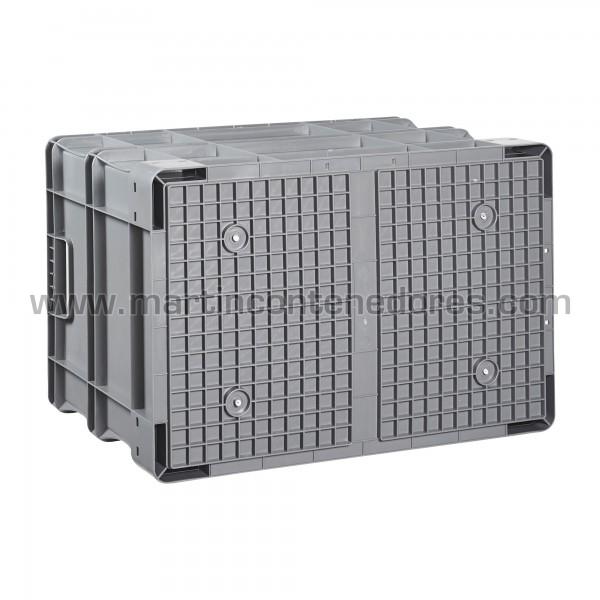 Caja plástica con base reforzada nueva
