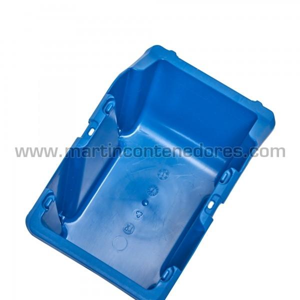 Gaveta plástica apilable color azul