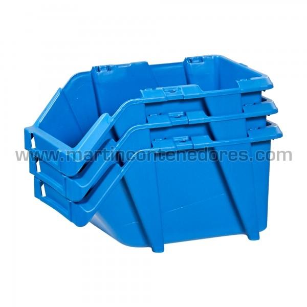Gaveta plástica resistente y versatil color azul