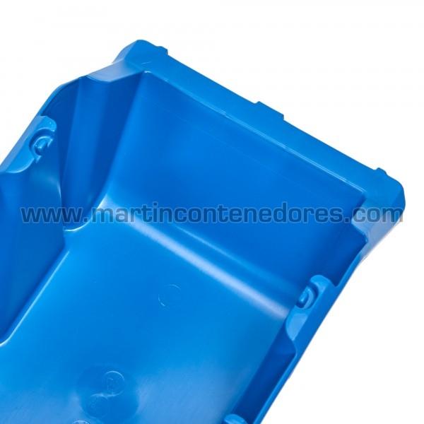 Gaveta plástica visualizadora color azul resistente