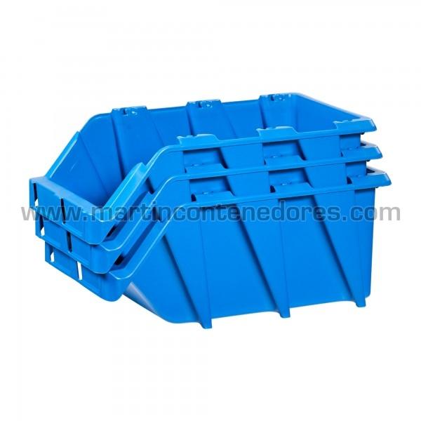 Gaveta plástica apilable fabricado en polipropileno