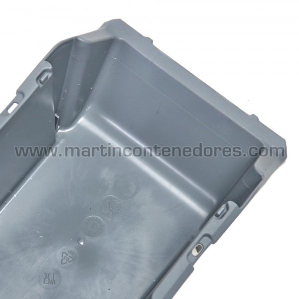 Gaveta plástica visualizadora resistente nuevo color gris