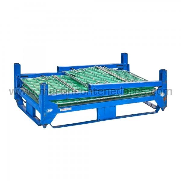 Contenedor plegable usado color azul