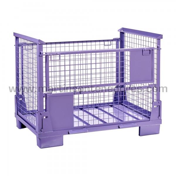 Conteneur pliable fabriqué en acier lilas