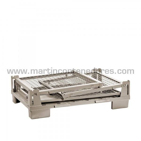 Conteneur pliable hauteur plié 320 mm gris
