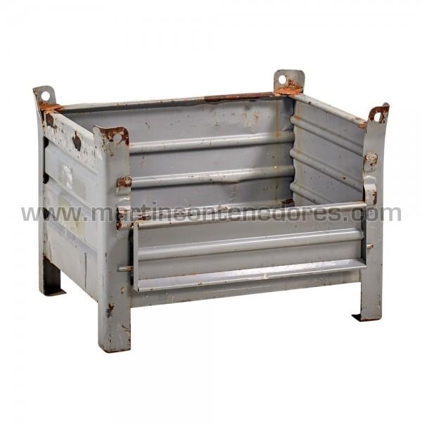Contentor metálico com comprimento interno de 720 mm