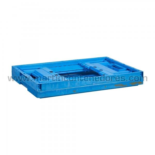Caisse plastique pliable avec hauteur plié 80 mm