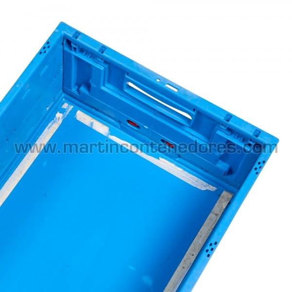 Bac plastique pliable avec poignées