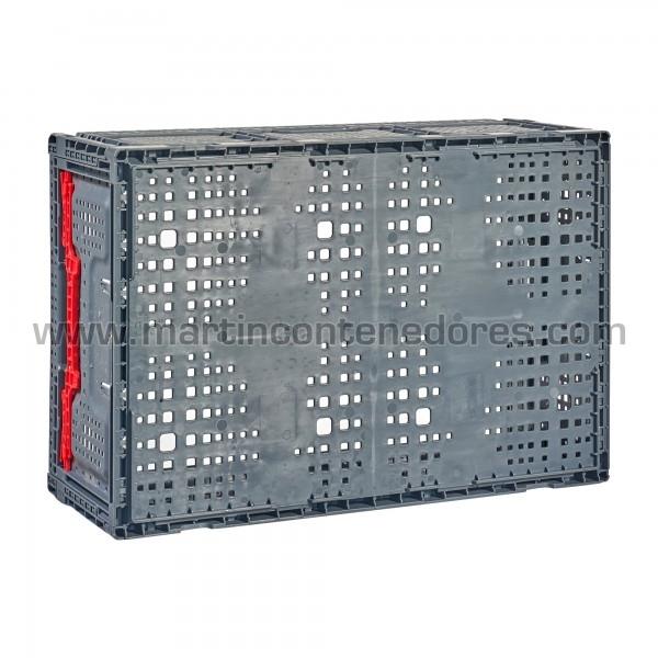 Caja plegable ventilada