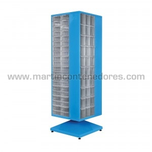 Rotating cabinet with 220...