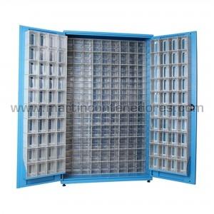 Metal rack with 278 plastic...