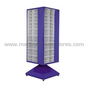 armario giratorio de metal con 128 gavetas