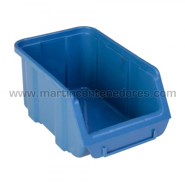 Bacs à bec hauteur 96 mm bleu