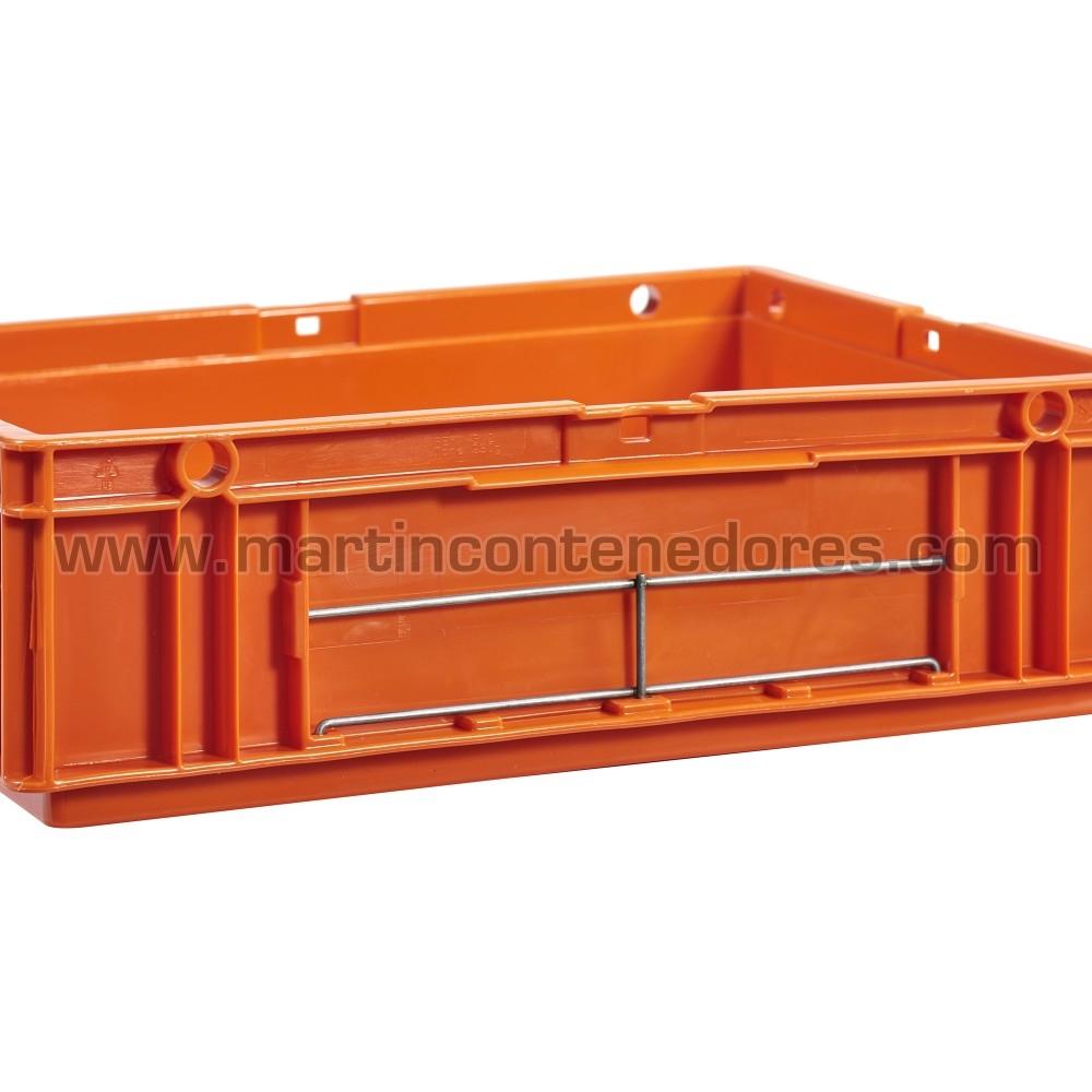 Porta-etiqueta para caixa odette fabricado com aço
