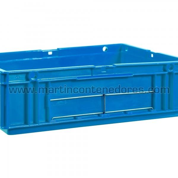 Porta-etiquetas para cajas odette fabricado en acero
