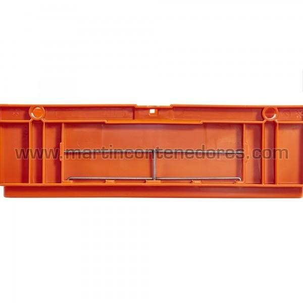 Porta-etiqueta para caixa galia odette de aço inoxidável