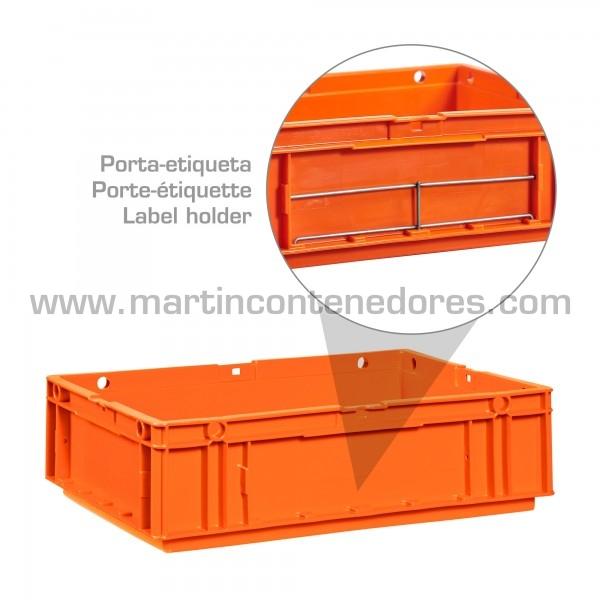Porta-etiquetas para cajas odette en acero inoxidable