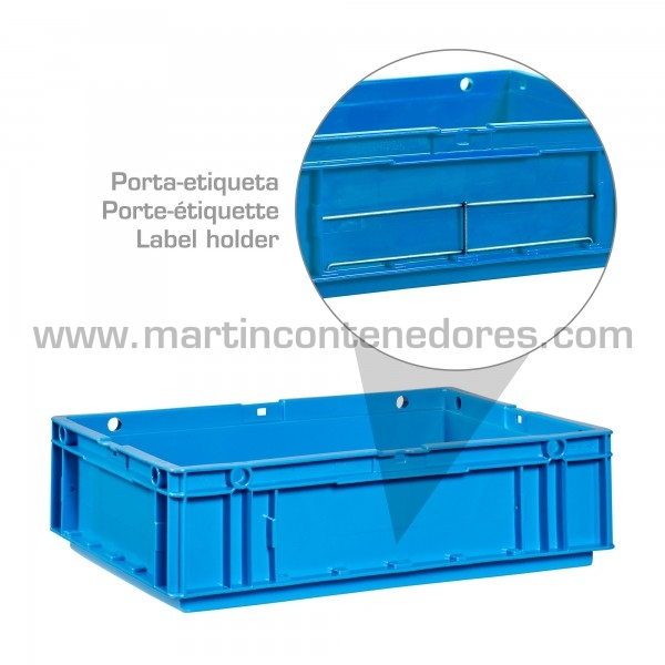 Caja odette galia con porta-etiquetas inoxidable