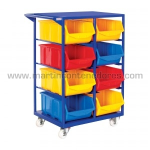 Mobile storage rack incl. 8...