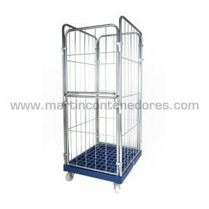 Roll container 3 panel with...