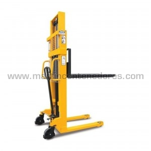 Stacker with manual lifting...