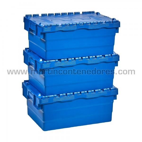 Cajas con 4 portaetiquetas y asas integradas