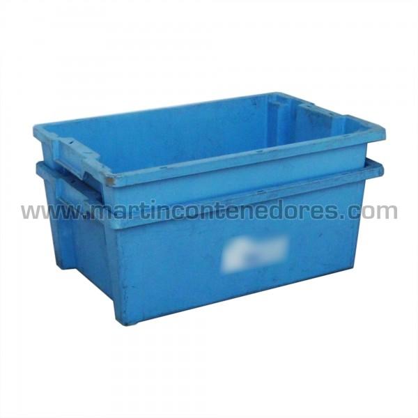 caja de plástico usada encajable