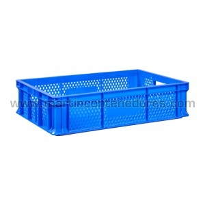 Perforated plastic crate...