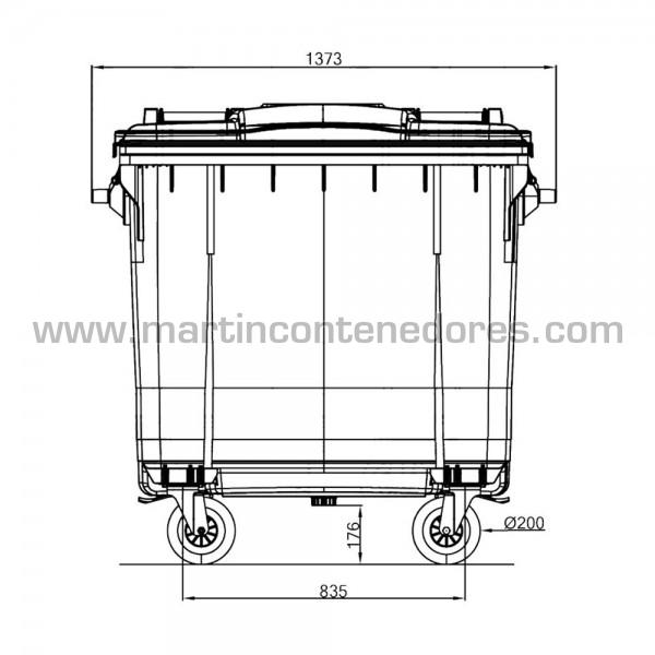 Conteneur pour déchets avec rodes