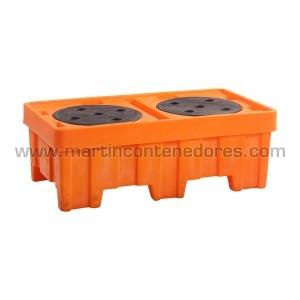 Retention basins for 2 drums