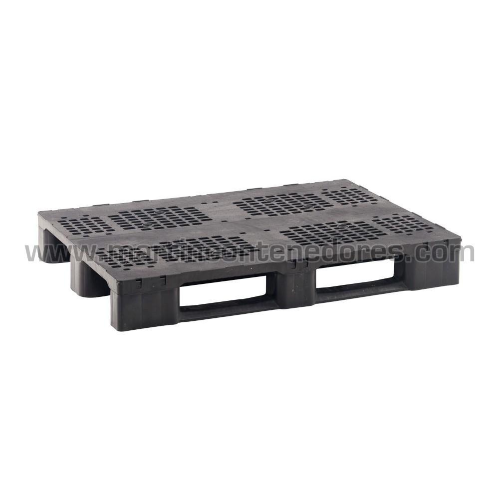 Palet plástico reforzado para mayores cargas en rack nuevo