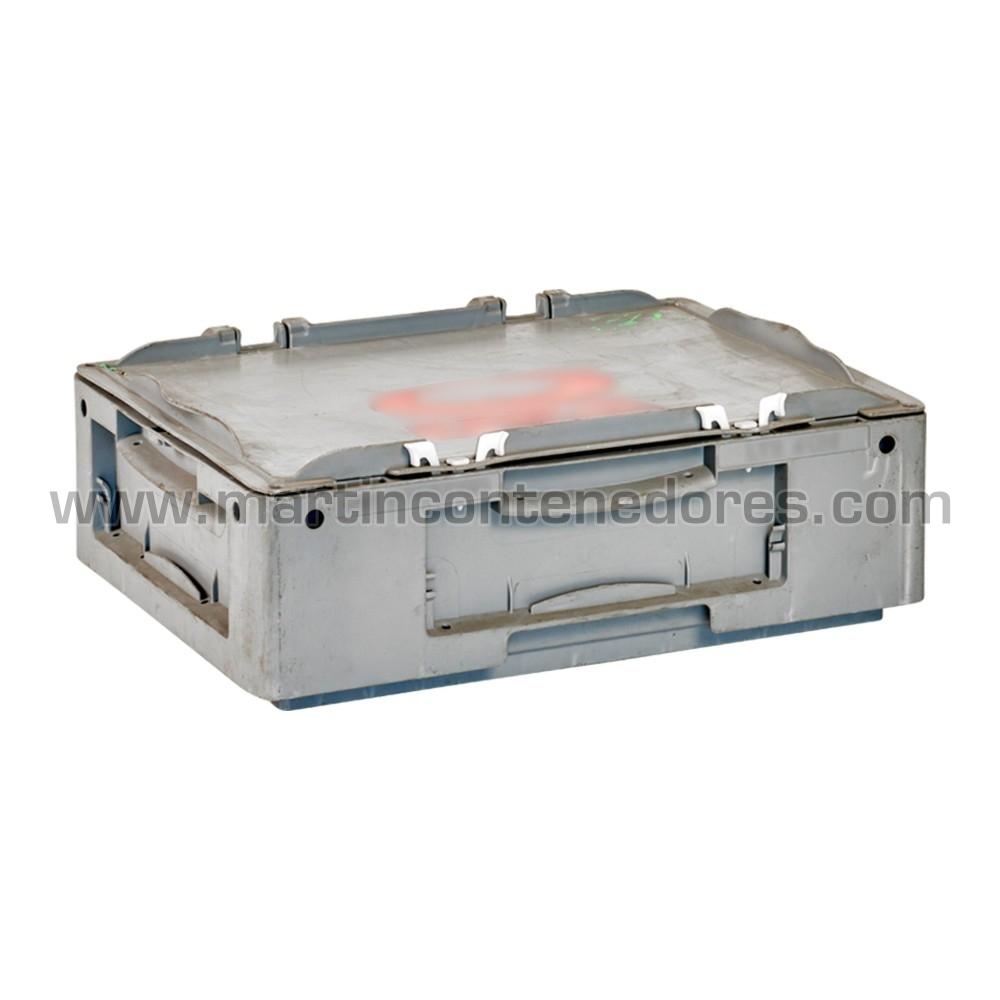 Caja plástica con tapa 400x300x120 mm
